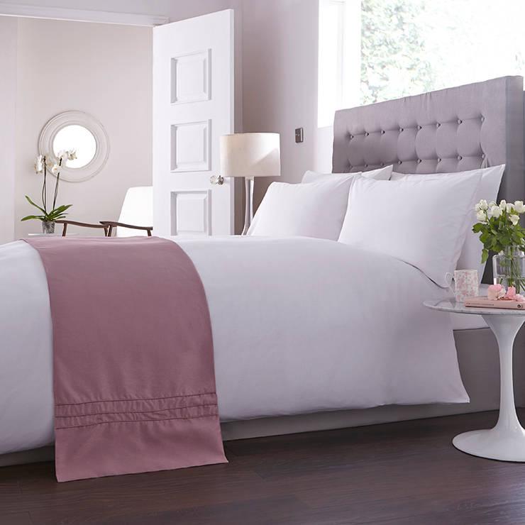 Charlotte Thomas Anastasia Bed Runner in Dark Pink:  Bedroom by We Love Linen