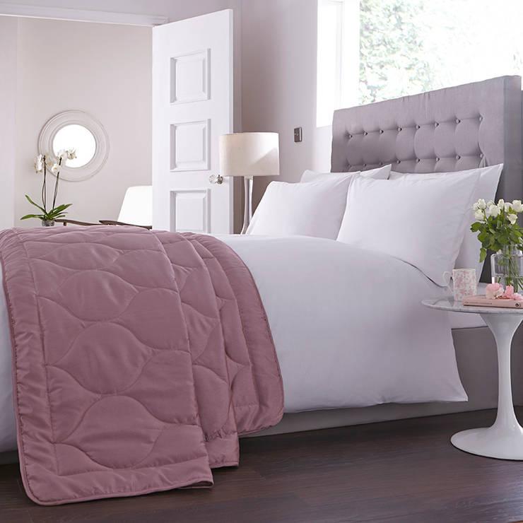 Charlotte Thomas Anastasia Bed Throw in Dark Pink:  Bedroom by We Love Linen