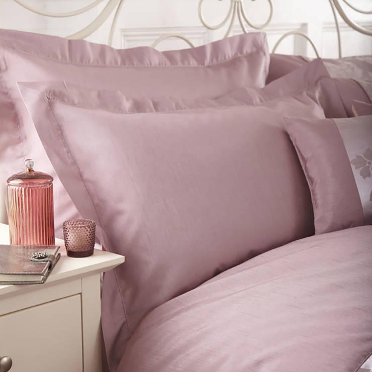 Charlotte Thomas Anastasia Oxford Pillowcase in Dark Pink:  Bedroom by We Love Linen