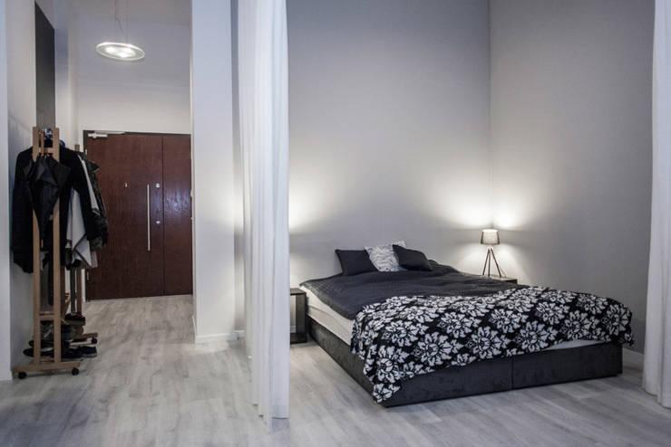 Loft w Łodzi: styl , w kategorii Sypialnia zaprojektowany przez I Home Studio Barbara Godawska