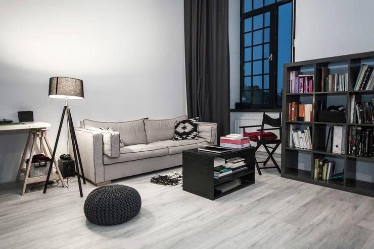Loft w Łodzi: styl , w kategorii Salon zaprojektowany przez I Home Studio Barbara Godawska