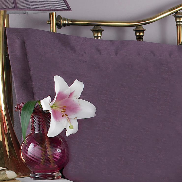 Charlotte Thomas Francesca Oxford Pillowcase in Plum:  Bedroom by We Love Linen