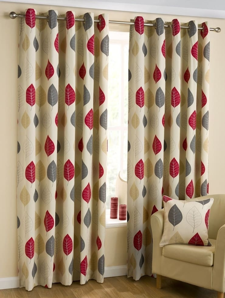 Modern Leaf Red:  Living room by Century Mills