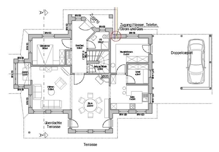 Erdgeschoss:   von Architekturbüro Dipl.-Ing. Peter Walach