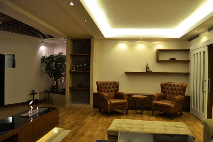 NM Mimarlık Danışmanlık İnşaat Turizm San. ve Dış Tic. Ltd. Şti. – VARYAP MERIDIAN B_40:  tarz Oturma Odası