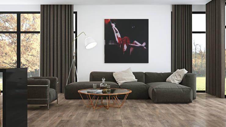 غرفة المعيشة تنفيذ The Wood Galleries