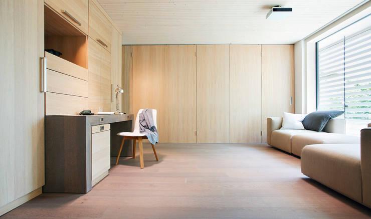 Openspace-Multifunktionsraum abgetrennt:   von Sonnleitner Holzbauwerke GmbH & Co. KG