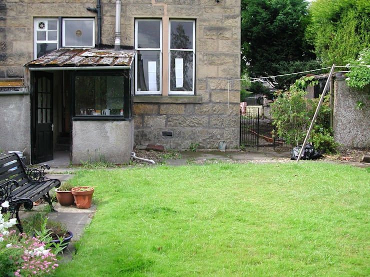 Waiting for the extension:   by Anne Macfie Garden Design