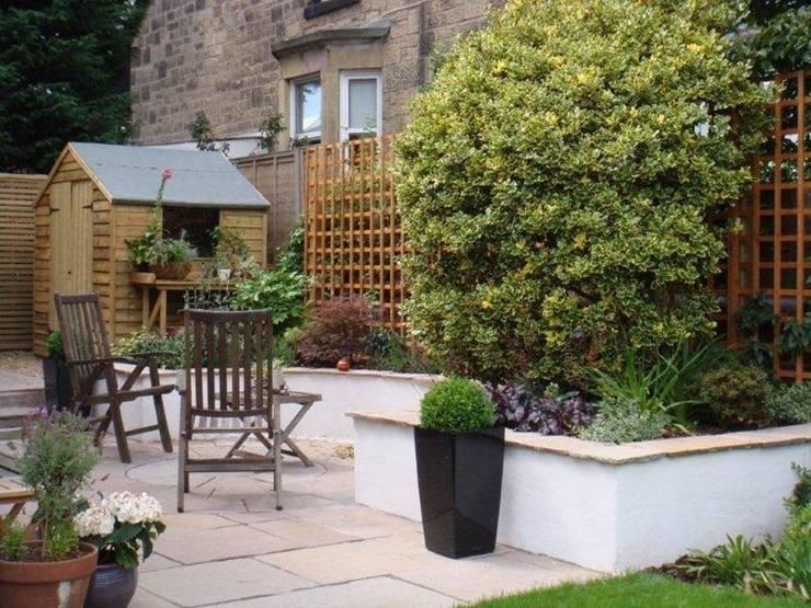 After the extension:   by Anne Macfie Garden Design