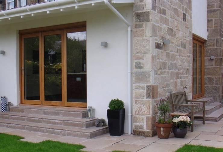 The new extension:   by Anne Macfie Garden Design