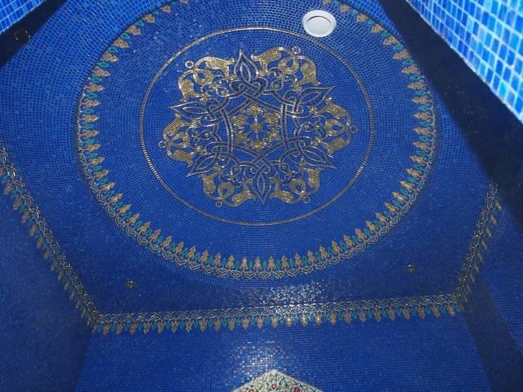 Хаммам в частном доме, Подмосковье, Новогорск, 2014: Спа в . Автор – Мастерская 'Мир мозаики и витража'