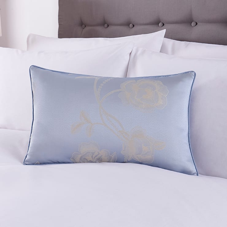 Charlotte Thomas Antonia Cushion Cover in Duck Egg Blue:  Bedroom by We Love Linen