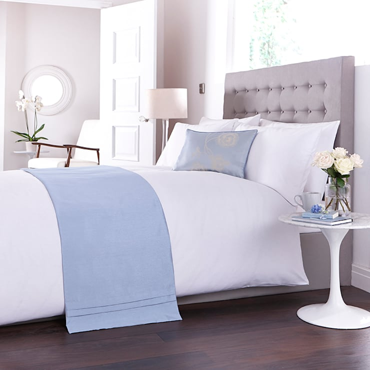 Charlotte Thomas Antonia Bed Runner in Duck Egg Blue:  Bedroom by We Love Linen