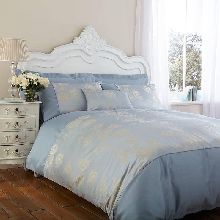 Charlotte Thomas Antonia Duvet Cover in Duck Egg Blue:  Bedroom by We Love Linen