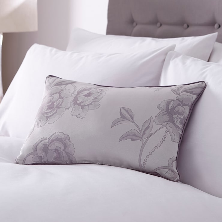 Charlotte Thomas Antonia Cushion Cover in Light Purple & Grey:  Bedroom by We Love Linen