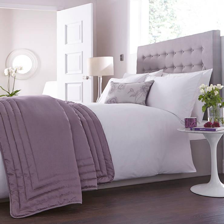 Charlotte Thomas Antonia Bed Throw in Light Purple:  Bedroom by We Love Linen