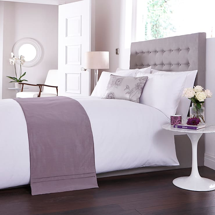 Charlotte Thomas Antonia Bed Runner in Light Purple:  Bedroom by We Love Linen