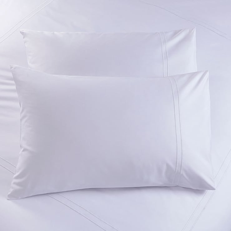 Charlotte Thomas Richmond Housewife Pillowcases in White:  Bedroom by We Love Linen