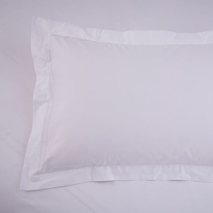 Charlotte Thomas Richmond Oxford Pillowcase in White:  Bedroom by We Love Linen