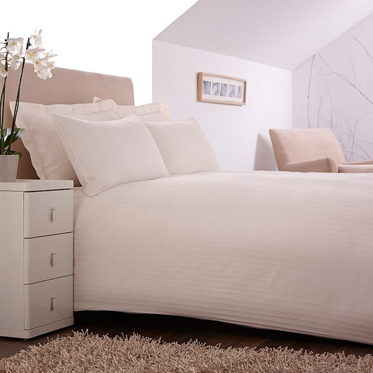 """Charlotte Thomas """"Satin Stripe"""" Bed Set in Ivory:  Bedroom by We Love Linen"""