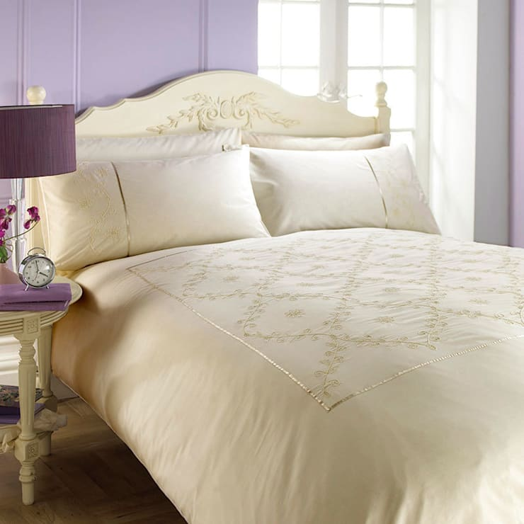 Charlotte Thomas Lucy Bed Set in Ivory:  Bedroom by We Love Linen