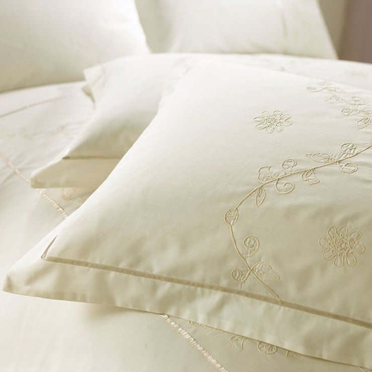 Charlotte Thomas Lucy Oxford Pillowcase in Ivory:  Bedroom by We Love Linen