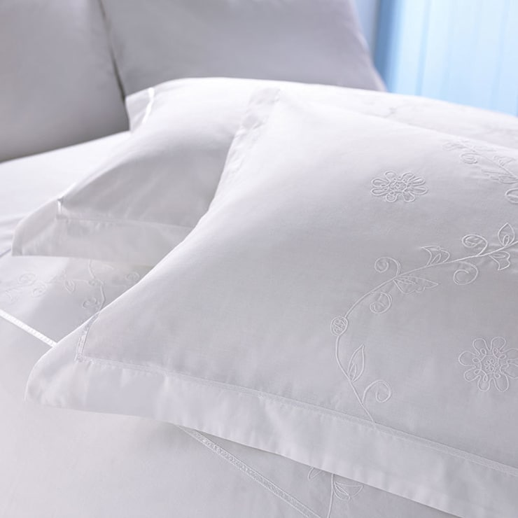 Charlotte Thomas Lucy Oxford Pillowcase in White:  Bedroom by We Love Linen