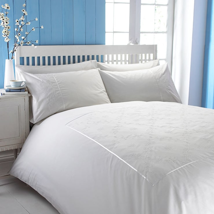 Charlotte Thomas Lucy Bed Set in White:  Bedroom by We Love Linen