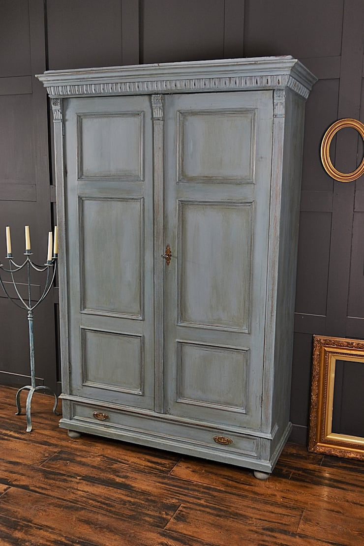 Large Shabby Chic  Blue Antique Wardrobe :  Bedroom by The Treasure Trove Shabby Chic & Vintage Furniture
