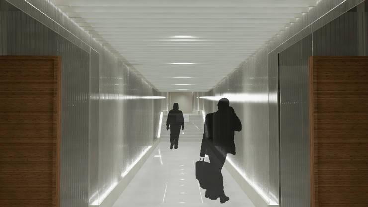 Espacios de circulación: Edificios de oficinas de estilo  de atelier Victor Salme