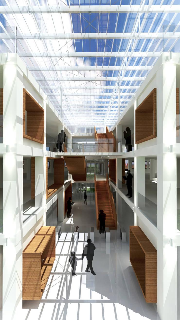 Atrio: Edificios de oficinas de estilo  de atelier Victor Salme