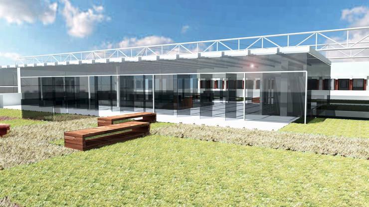 Cubierta ajardinada: Edificios de oficinas de estilo  de atelier Victor Salme