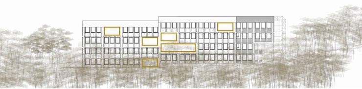 Actuación en fachada Norte:  de estilo  de atelier Victor Salme