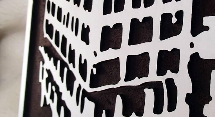 Miasto - zbliżenie - nowoczesny obraz od portrety w drewnie pl: styl , w kategorii Sztuka zaprojektowany przez Portrety w drewnie pl