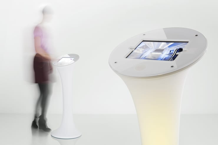 iPad stand:  Office spaces & stores  by ZILBERS DESIGN