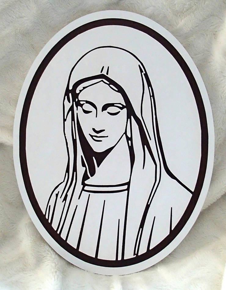 Matka Boska : styl , w kategorii Sztuka zaprojektowany przez Portrety w drewnie pl