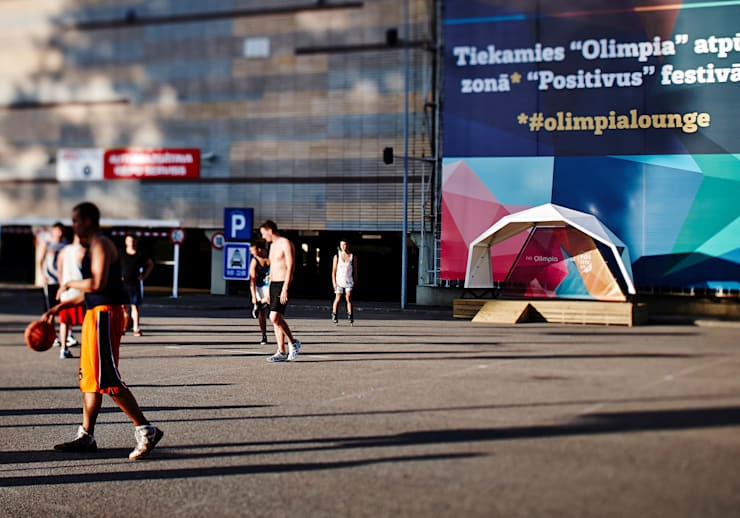 Olimpia Bus stop:  Event venues by ZILBERS DESIGN