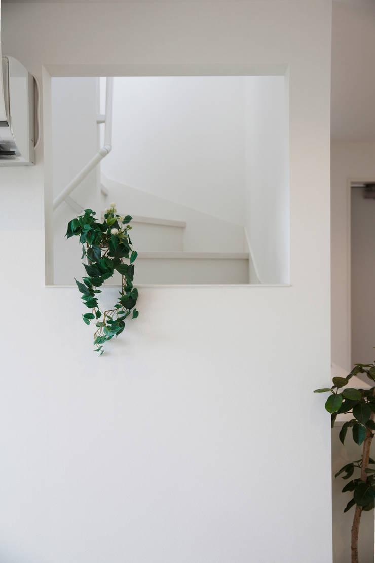 大分の家: イノウエセッケイジムショが手掛けた廊下 & 玄関です。