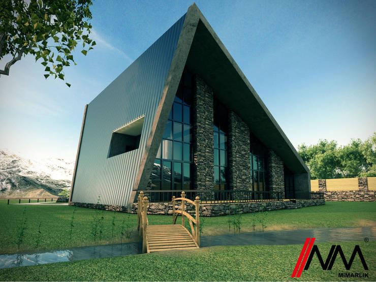 NM Mimarlık Danışmanlık İnşaat Turizm San. ve Dış Tic. Ltd. Şti. – Qusar Chalet: modern tarz Evler