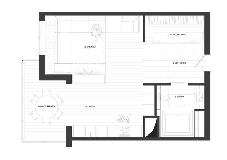 """Квартира-студия для холостяка """"Серый туман"""": Стены в . Автор – ECOForma"""