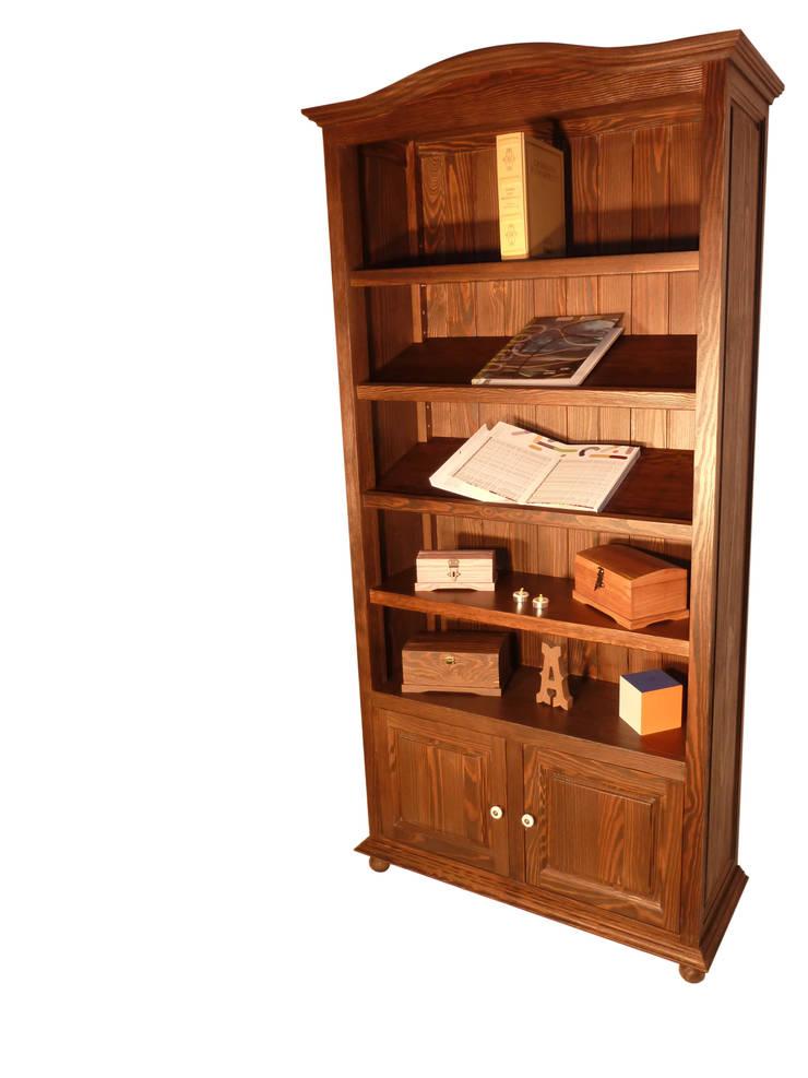 librería rustica: Salones de estilo  de Seedmo