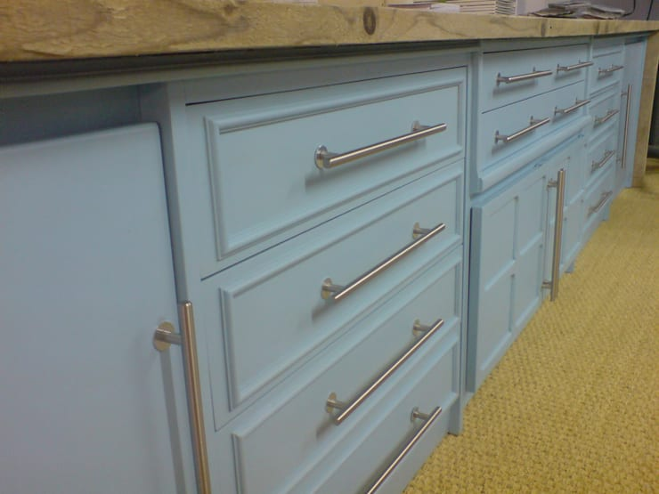 upcycled feature - DOVER cabinet:  Living room by Claire Potter Design