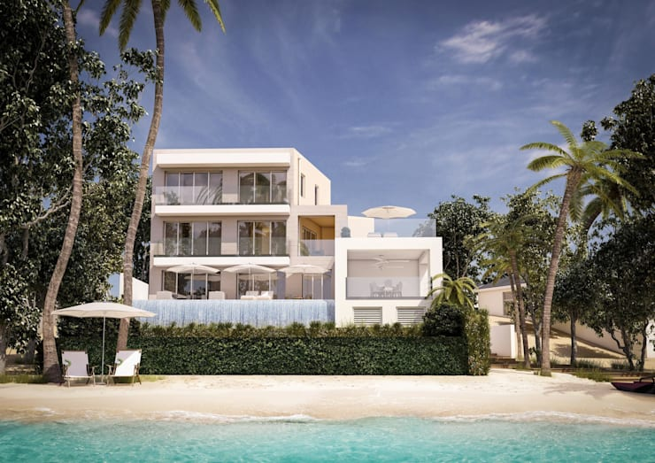 ​3d architectural visualisation project in Barbados by RedWhite Creative Agency:  Houses by REDWHITE CA