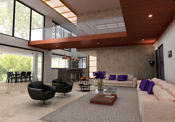 Infografía de un salón: Salones de estilo  de MATRADI - INFOGRAFÍA 3D