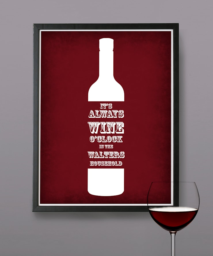 Personalised Print - Wine O'Clock:  Artwork by MAYKI
