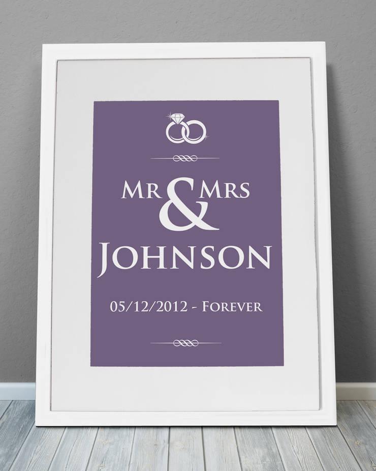 Personalised Print - Wedding Rings:  Artwork by MAYKI