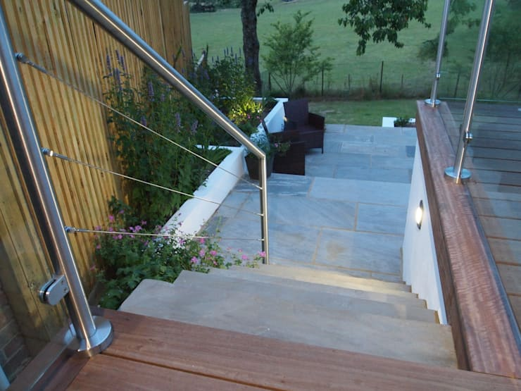 Beautifully crafted steps:  Terrace by Borrowed Space