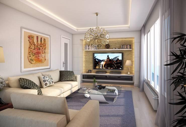 villa art – 3d max proje çalışmamız.:  tarz İç Dekorasyon