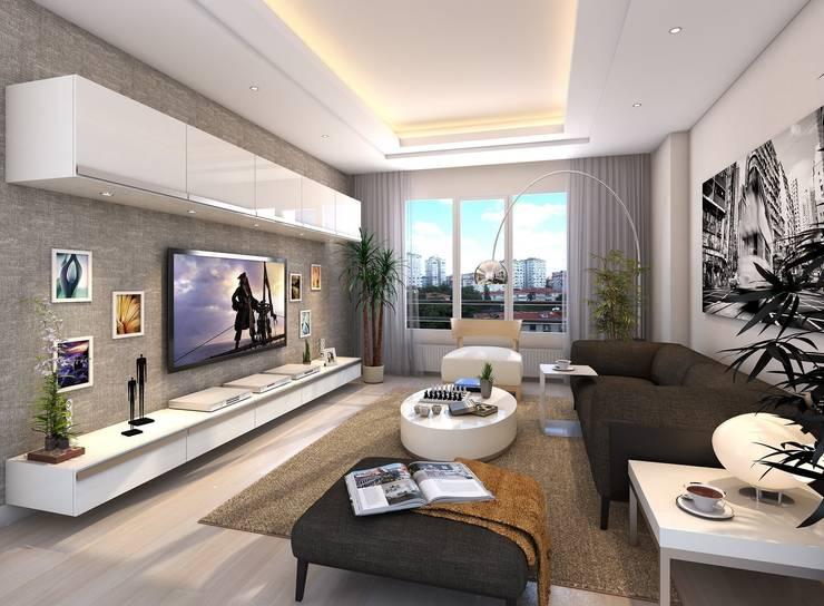 villa art – 3d max proje çalışmamız:  tarz İç Dekorasyon