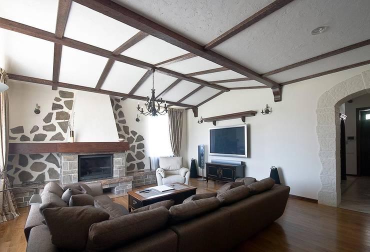 Дом в Средиземноморском стиле: Гостиная в . Автор – freelancer